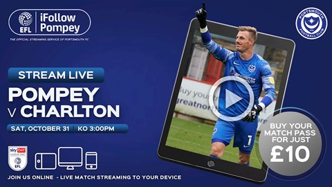 Watch Pompey vs. Charlton Athletic Live On iFollow