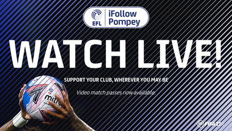 Watch Pompey Games Live With An iFollow Match Pass