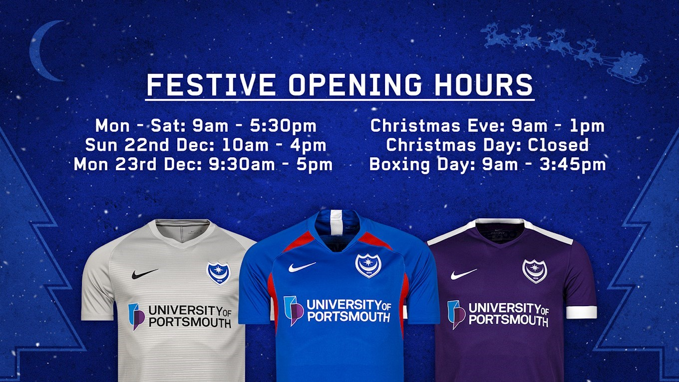 Pompey Store Christmas Opening Hours And Delivery Deadlines - News - Portsmouth