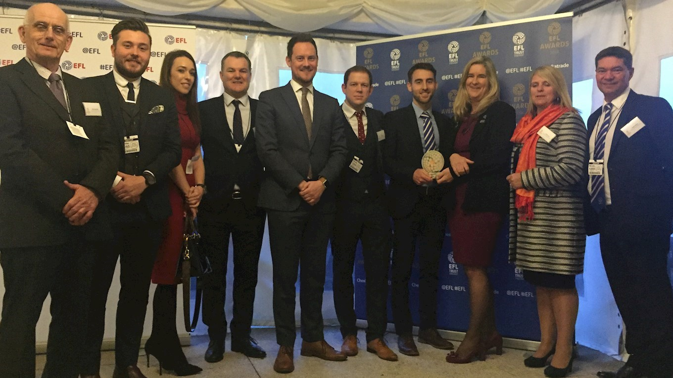 Pompey receive their Community Club of the Year award in Parliament