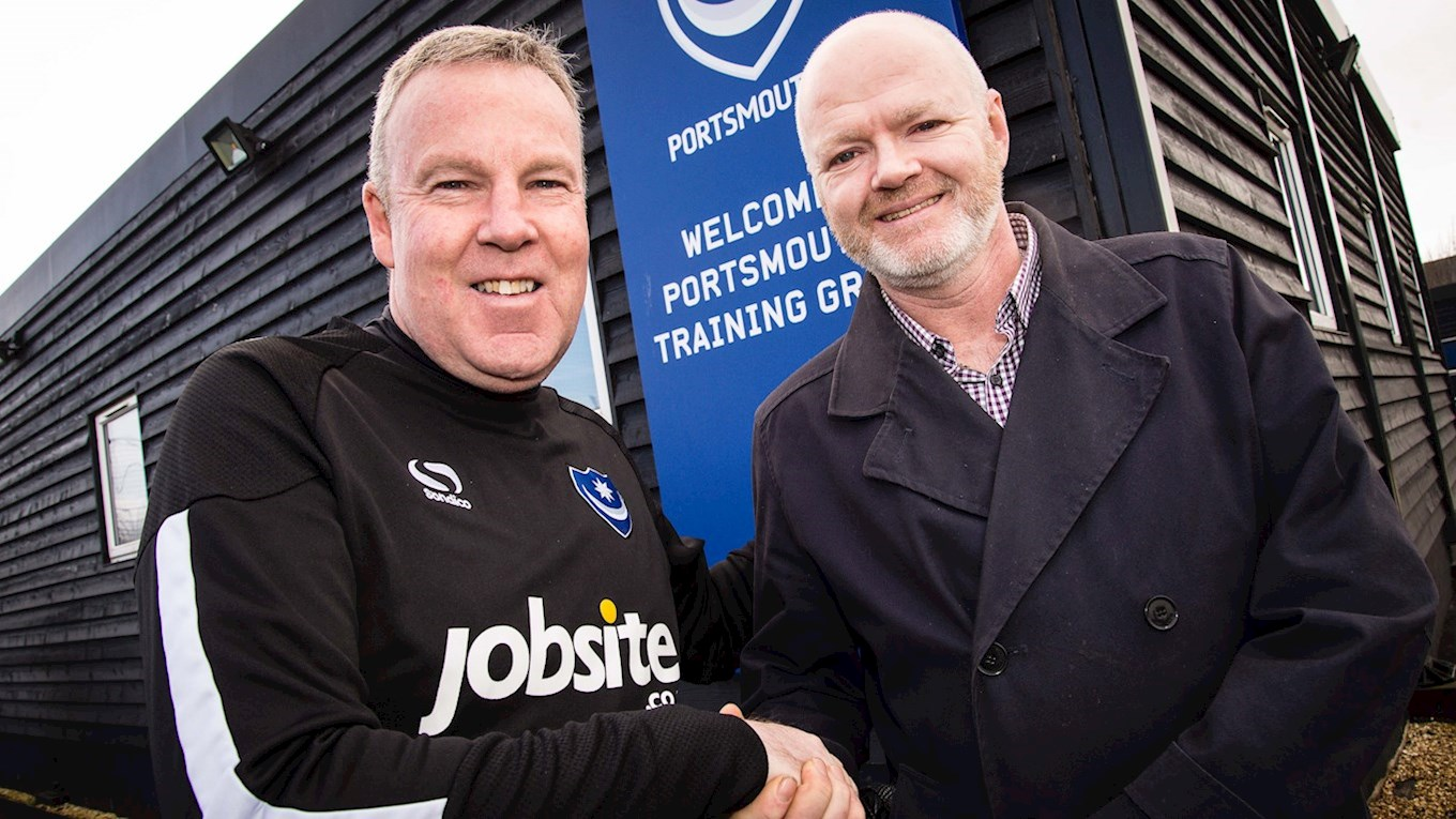 Steve Chamberlain meets Pompey manager Kenny Jackett