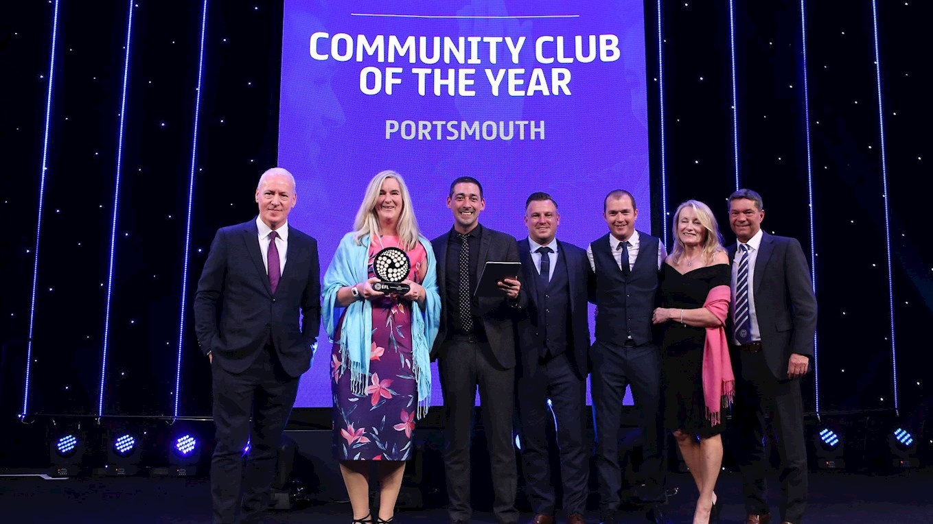 Pompey named Community Club of the Year at the EFL Awards