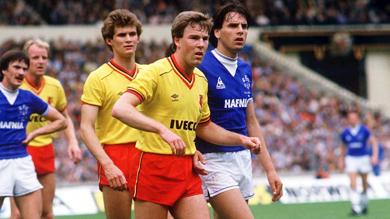 Kenny Jackett playing for Watford in the 1984 FA Cup final