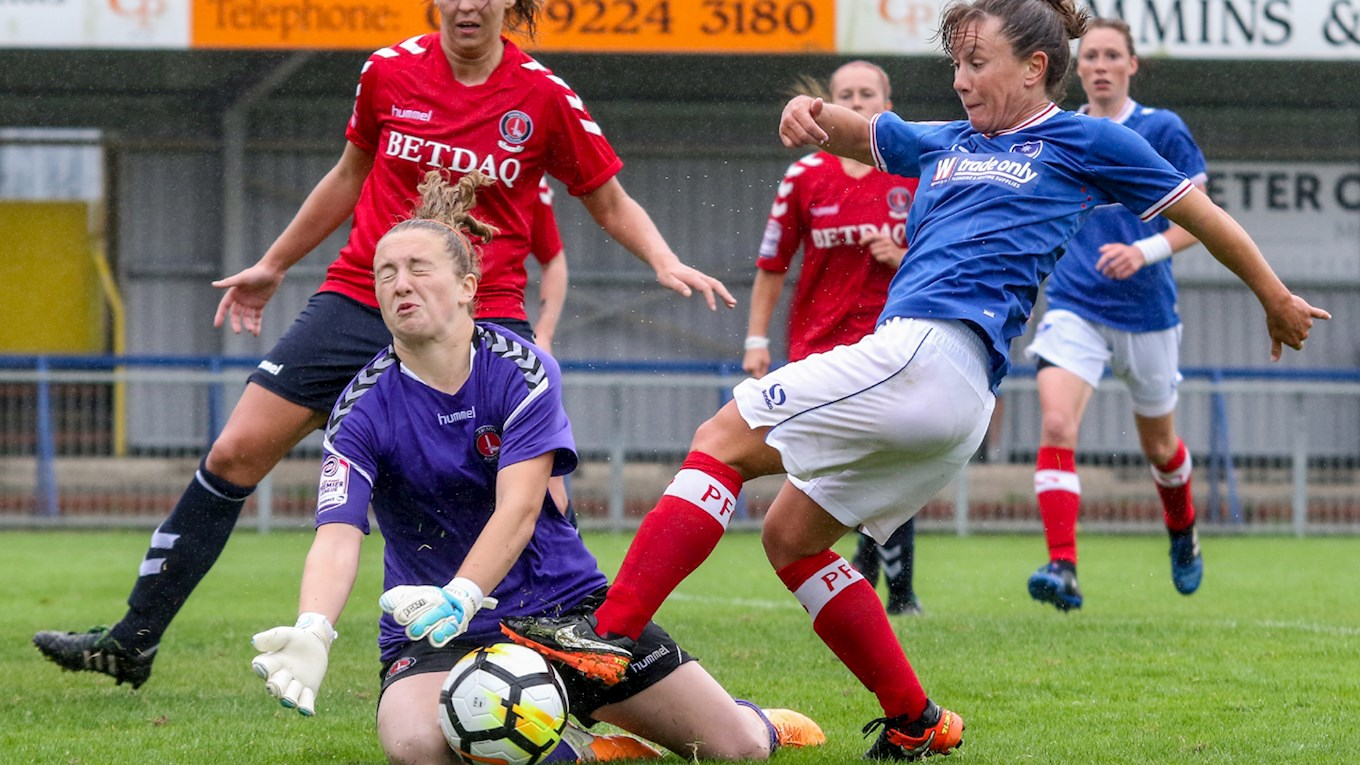 Pompey Ladies in action against Charlton Athletic