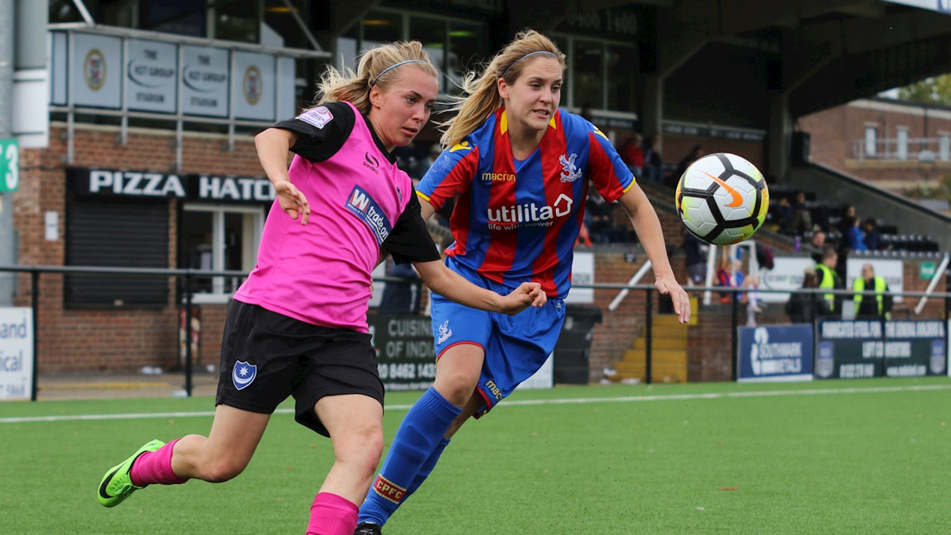 Pompey Ladies in action at Crystal Palace