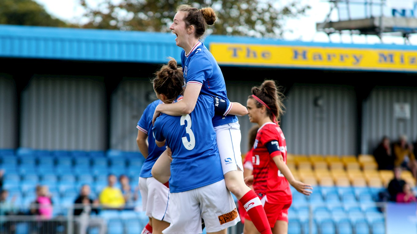 Pompey Ladies in action against Gillingham