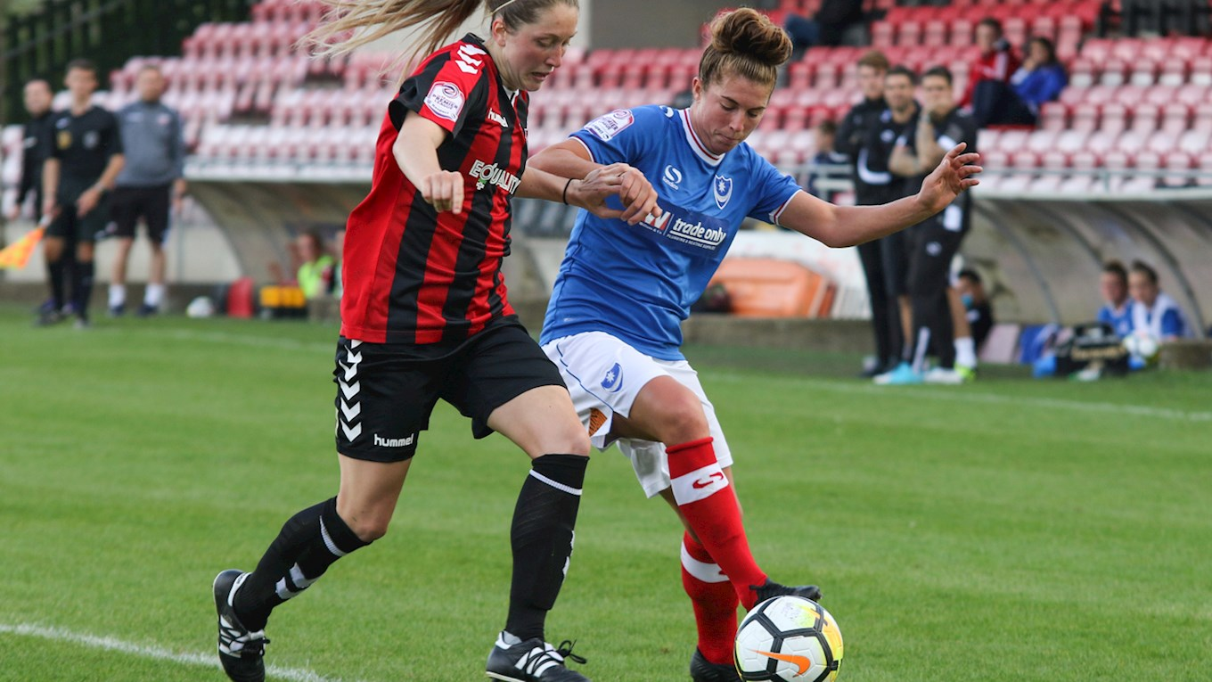 Pompey Ladies in action at Lewes