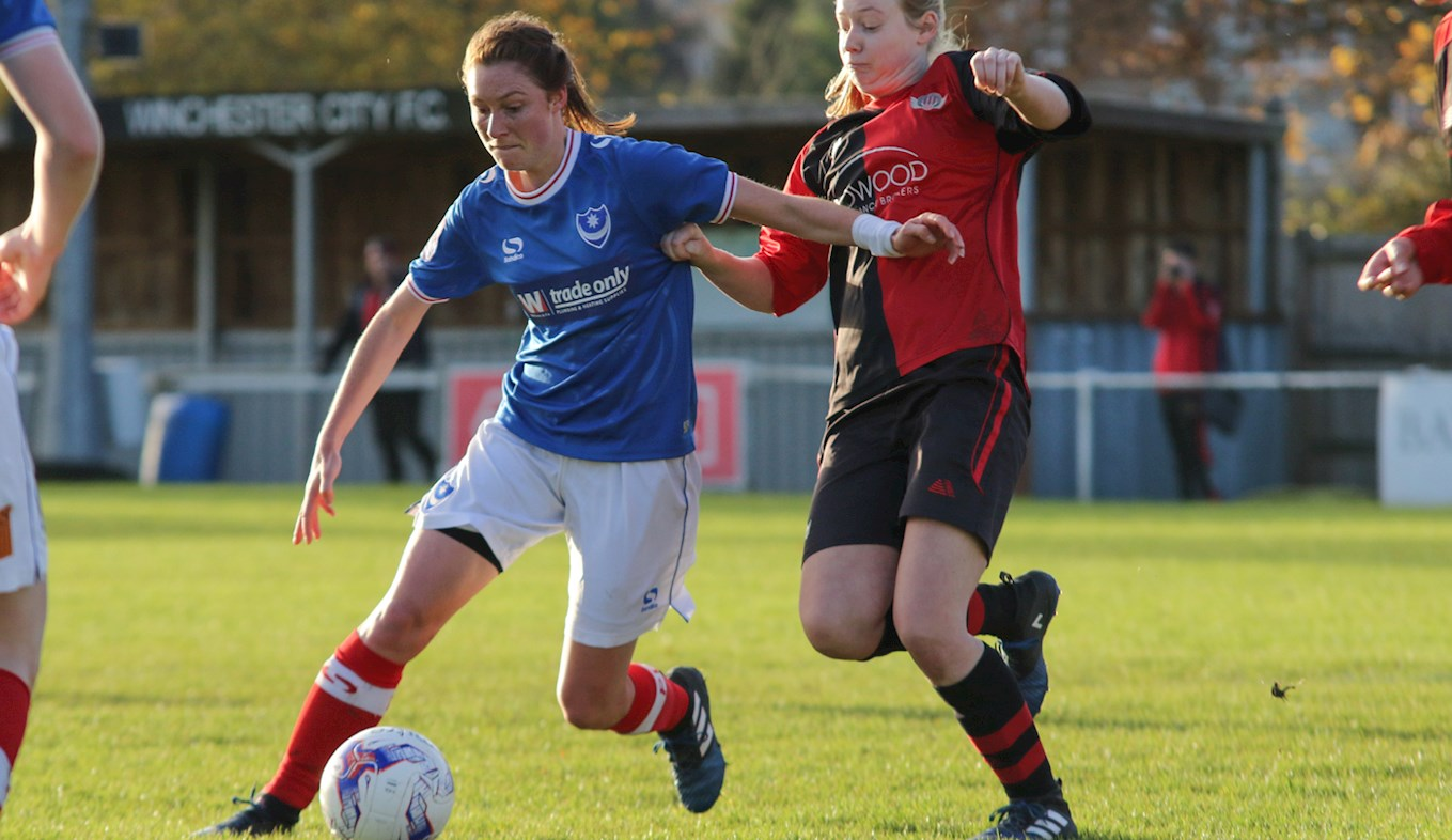 Pompey Ladies in action at Winchester
