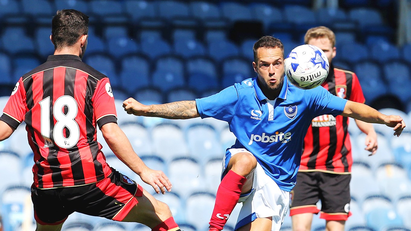 Pompey in pre-season action against AFC Bournemouth at Fratton Park