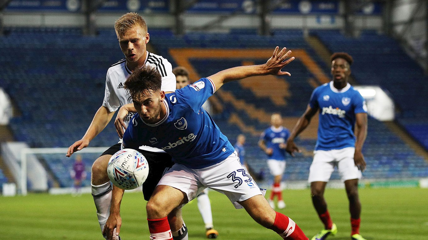 Ben Close in action for Pompey against Fulham U21s