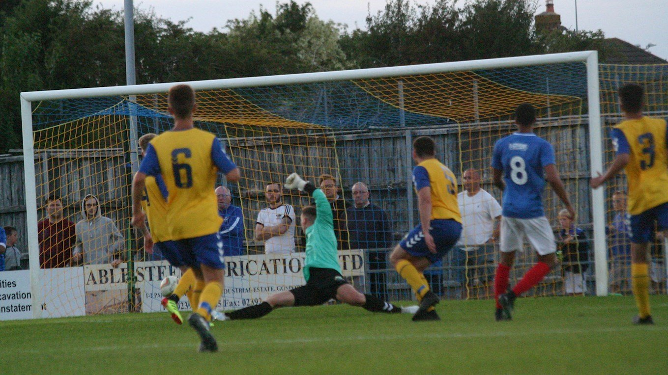 Pompey in action at Gosport