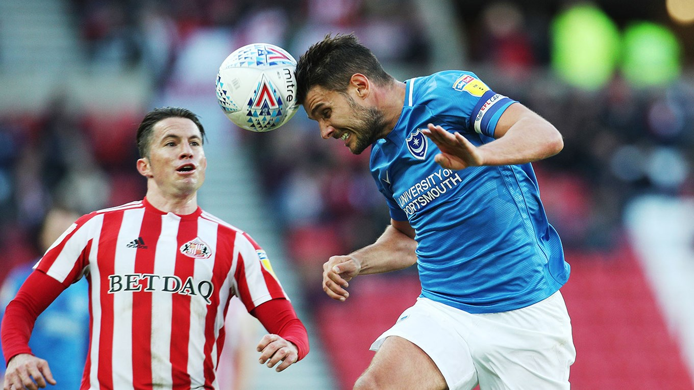 Gareth Evans in action for Pompey at Sunderland