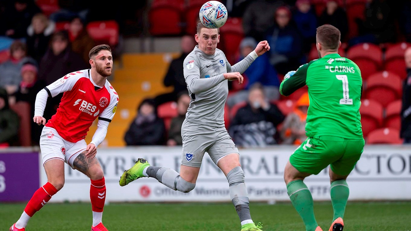 Ronan Curtis in action for Pompey at Fleetwood
