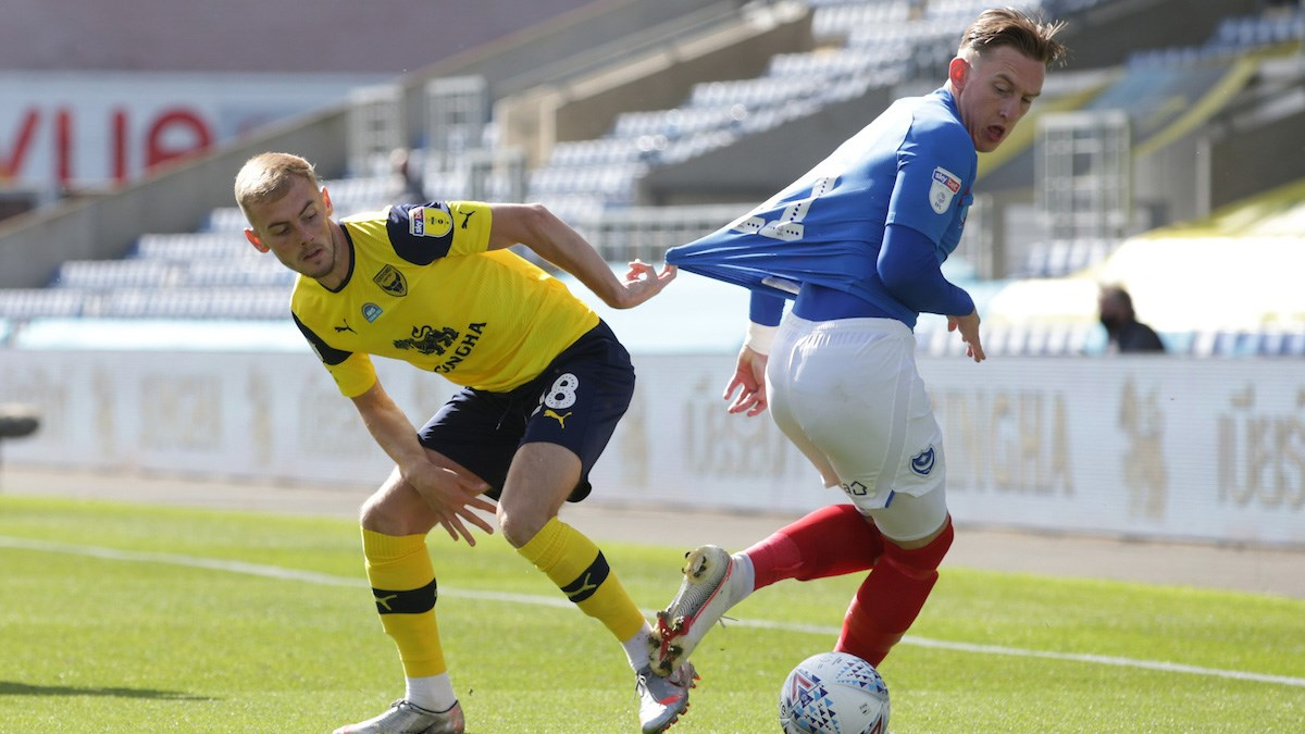 Ronan Curtis in action for Pompey at Oxford
