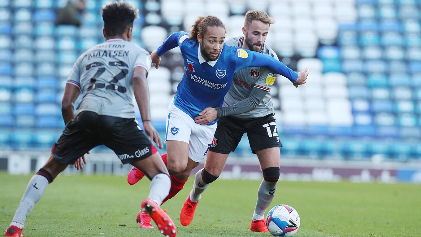 Marcus Harness in action for Pompey against Charlton