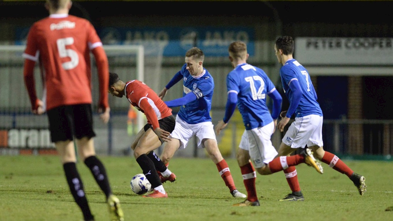 Pompey Reserves in Premier League Cup action against Barnsley at Westleigh Park