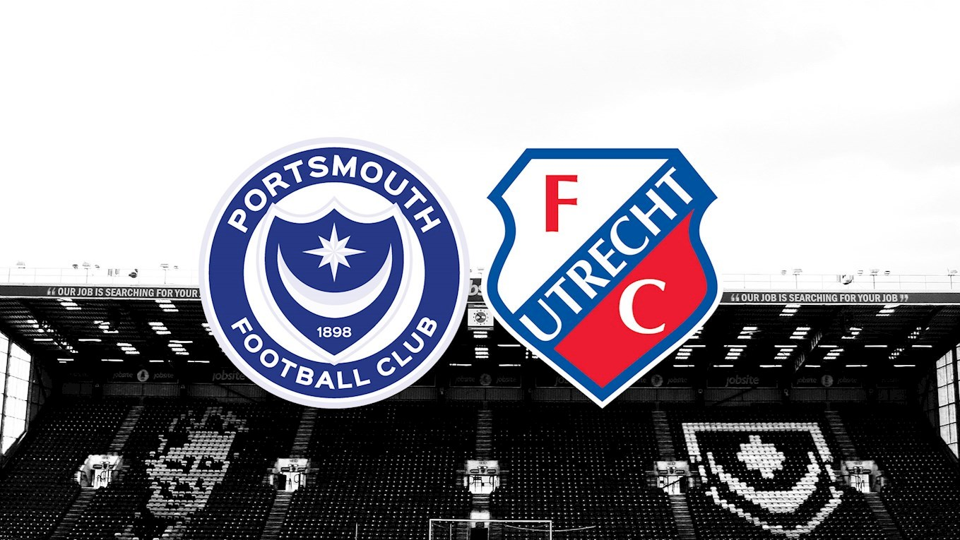 Pompey will play a friendly against Dutch side FC Utrecht