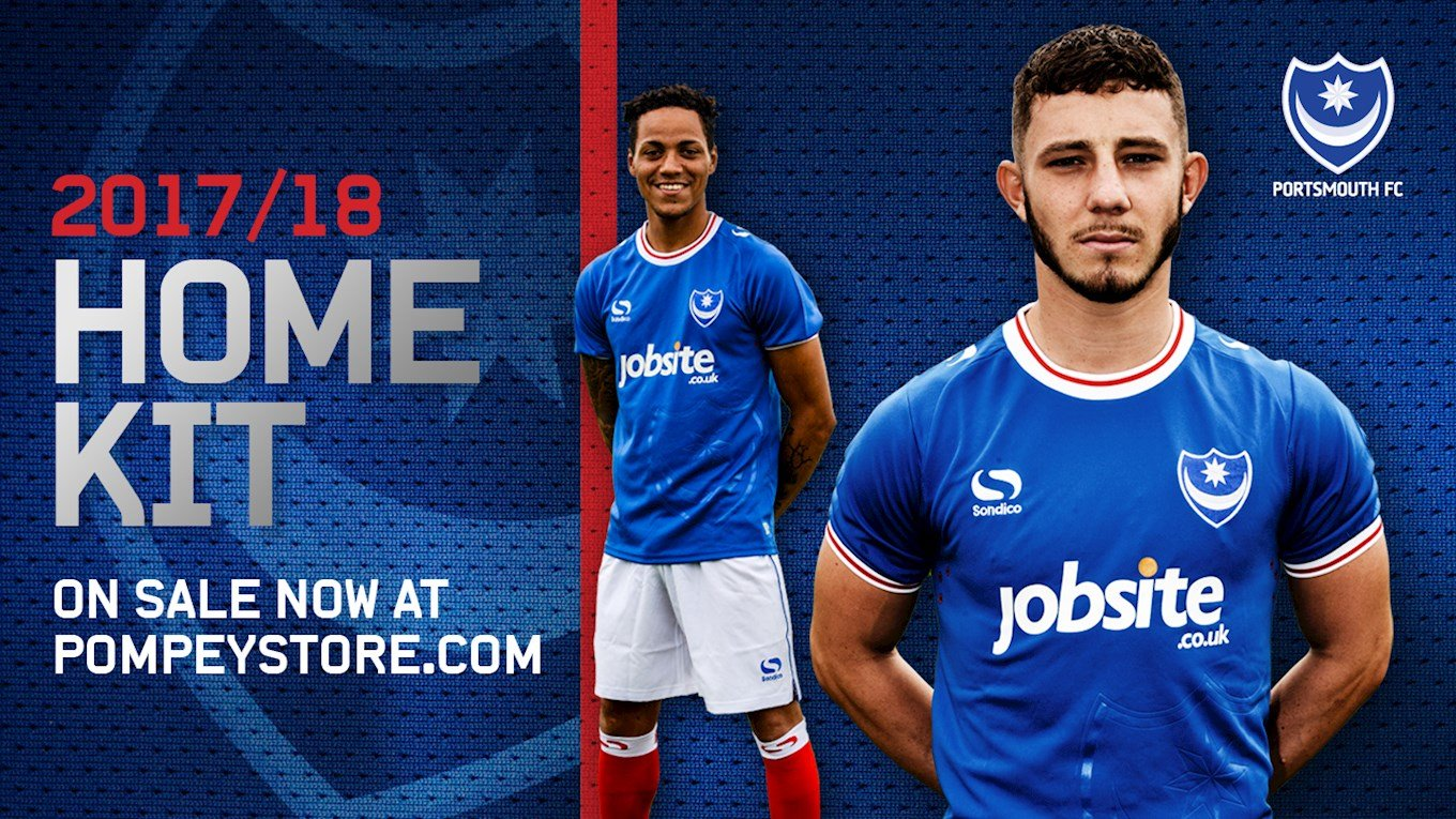 Pompey's 2017/18 home kit