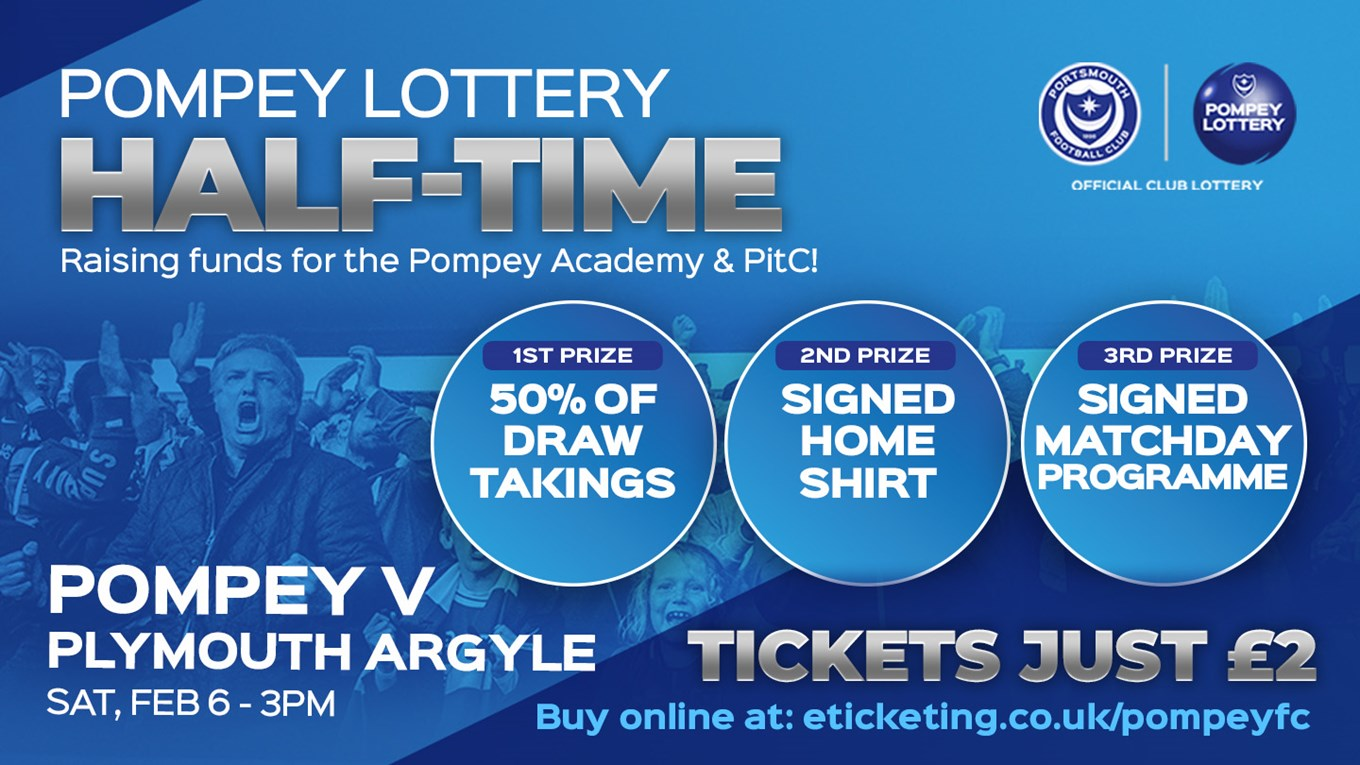 Pompey v Plymouth half-time draw