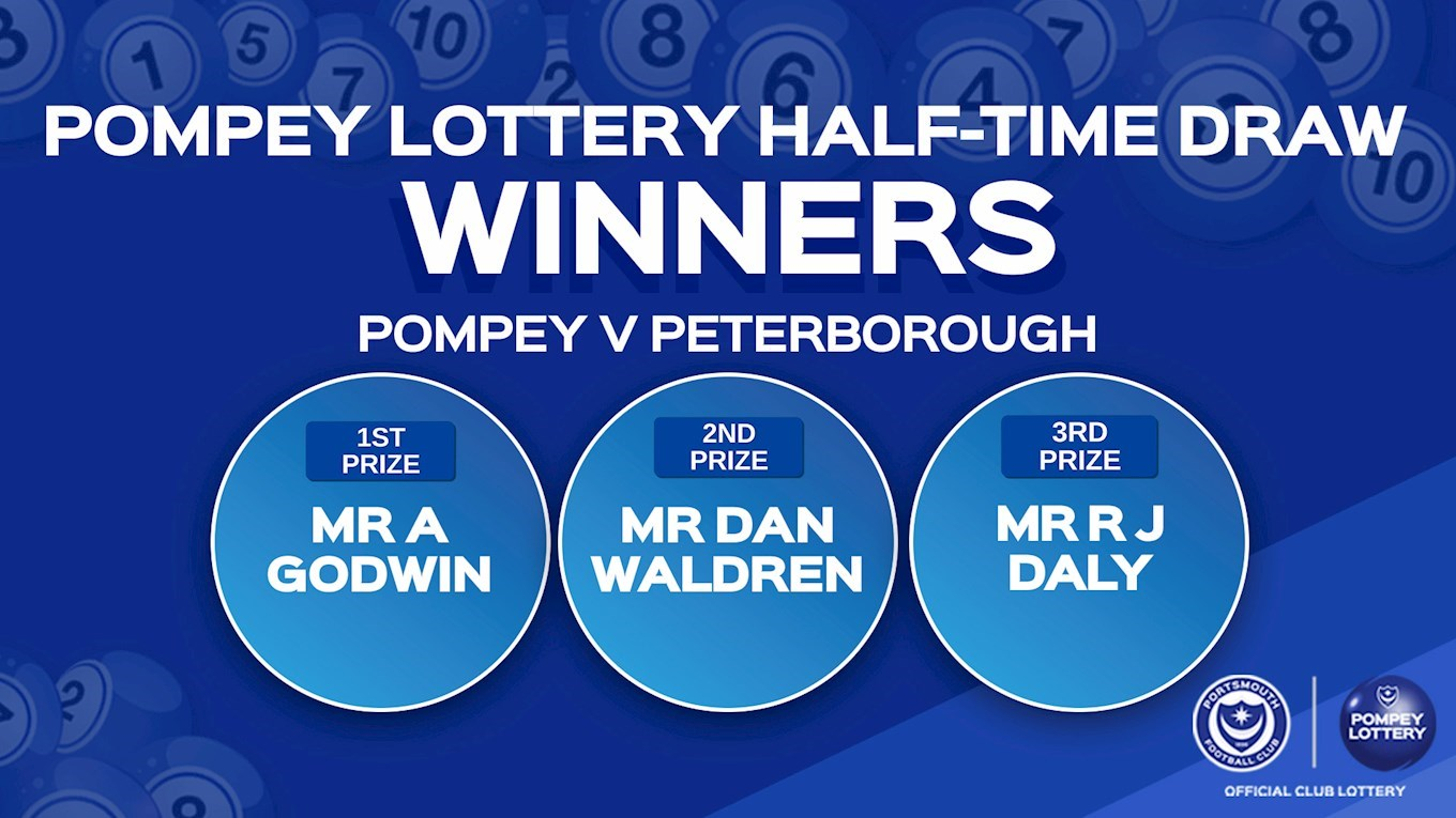 Pompey v Peterborough half-time draw
