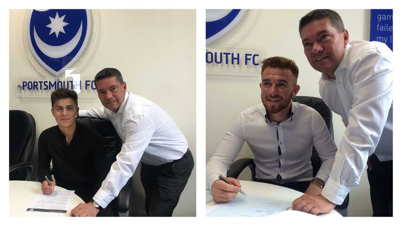 Jez Bedford and Theo Widdrington sign Pompey contracts
