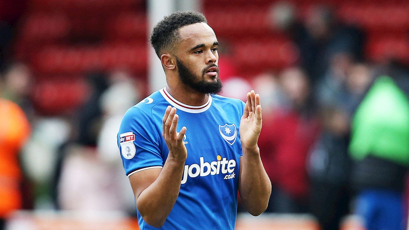 Pompey defender Anton Walkes in action at Walsall