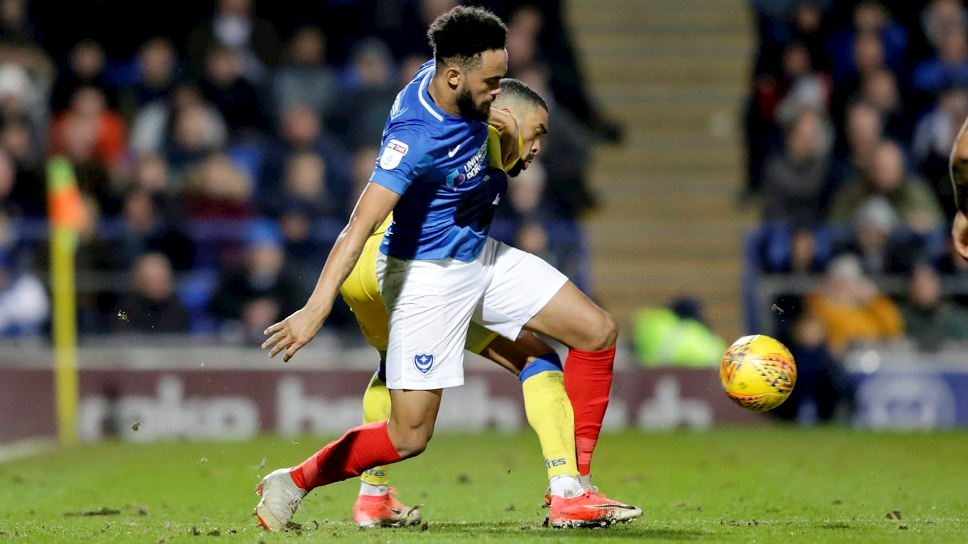 Anton Walkes in action for Pompey against Bristol Rovers