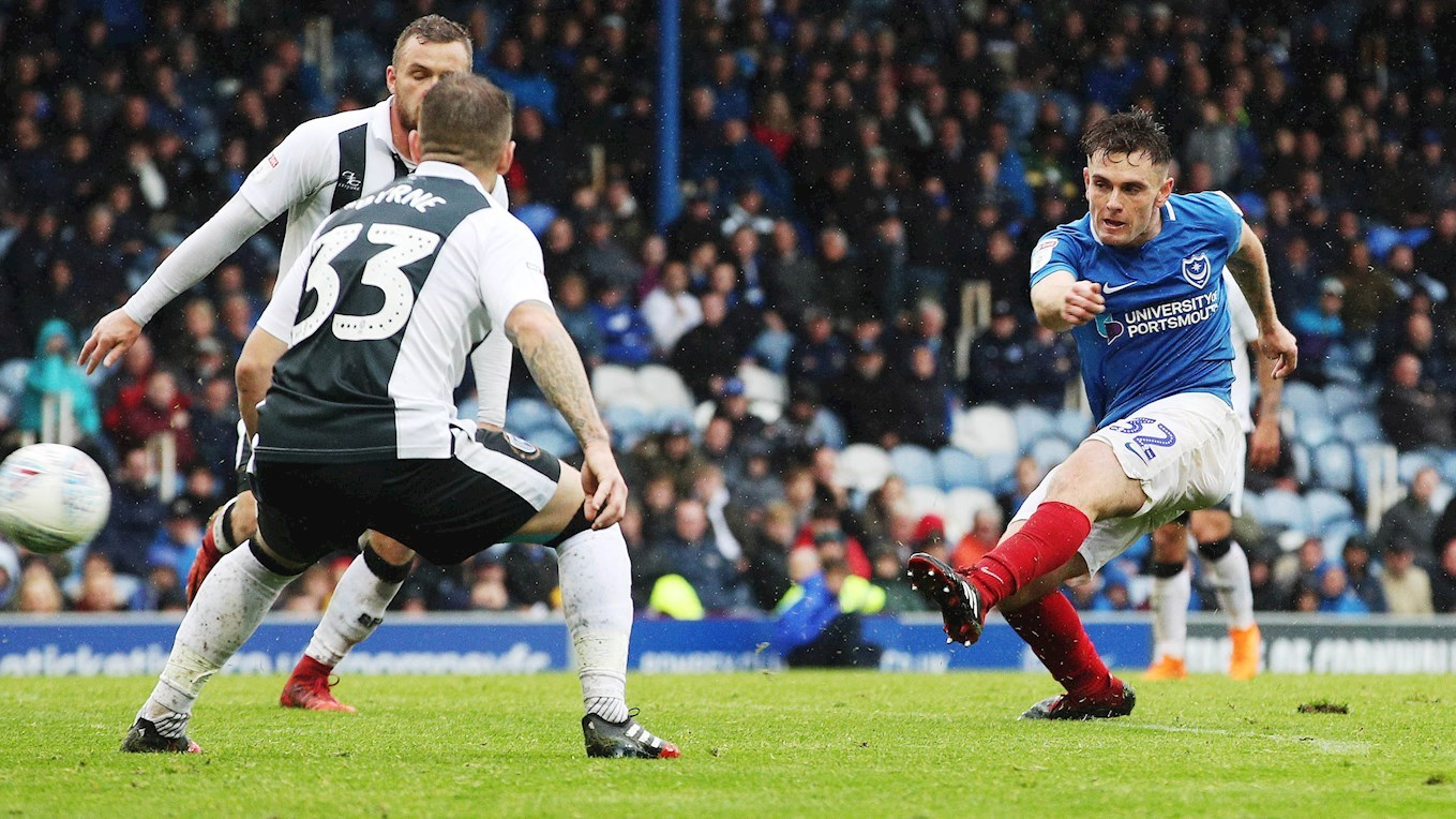 Ben Thompson in action for Pompey against Gillingham
