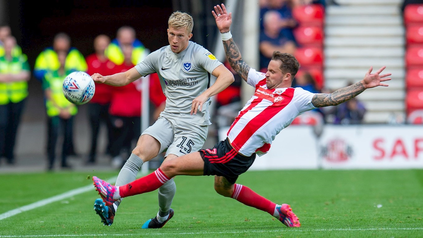 Ross McCrorie in action for Pompey at Sunderland