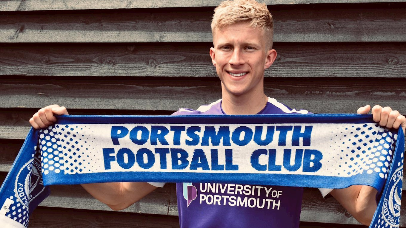 Ross McCrorie signs for Pompey