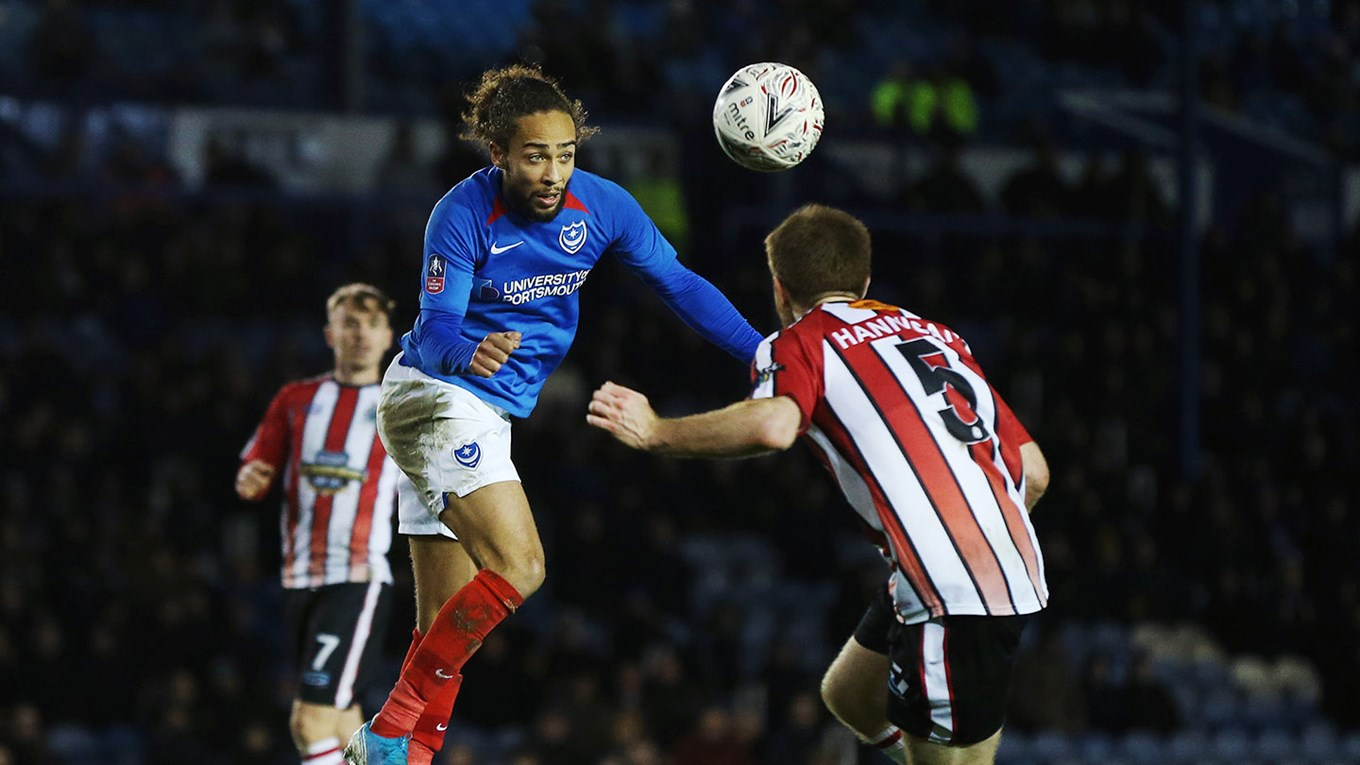 Marcus Harness in action for Pompey against Altrincham