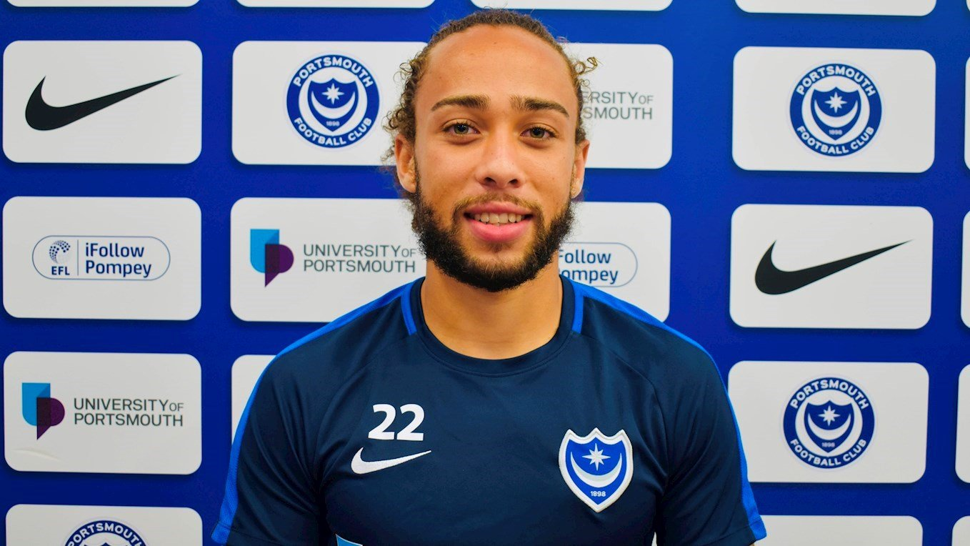 Marcus Harness signs for Pompey