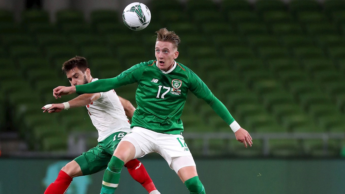 Ronan Curtis in action for Republic of Ireland