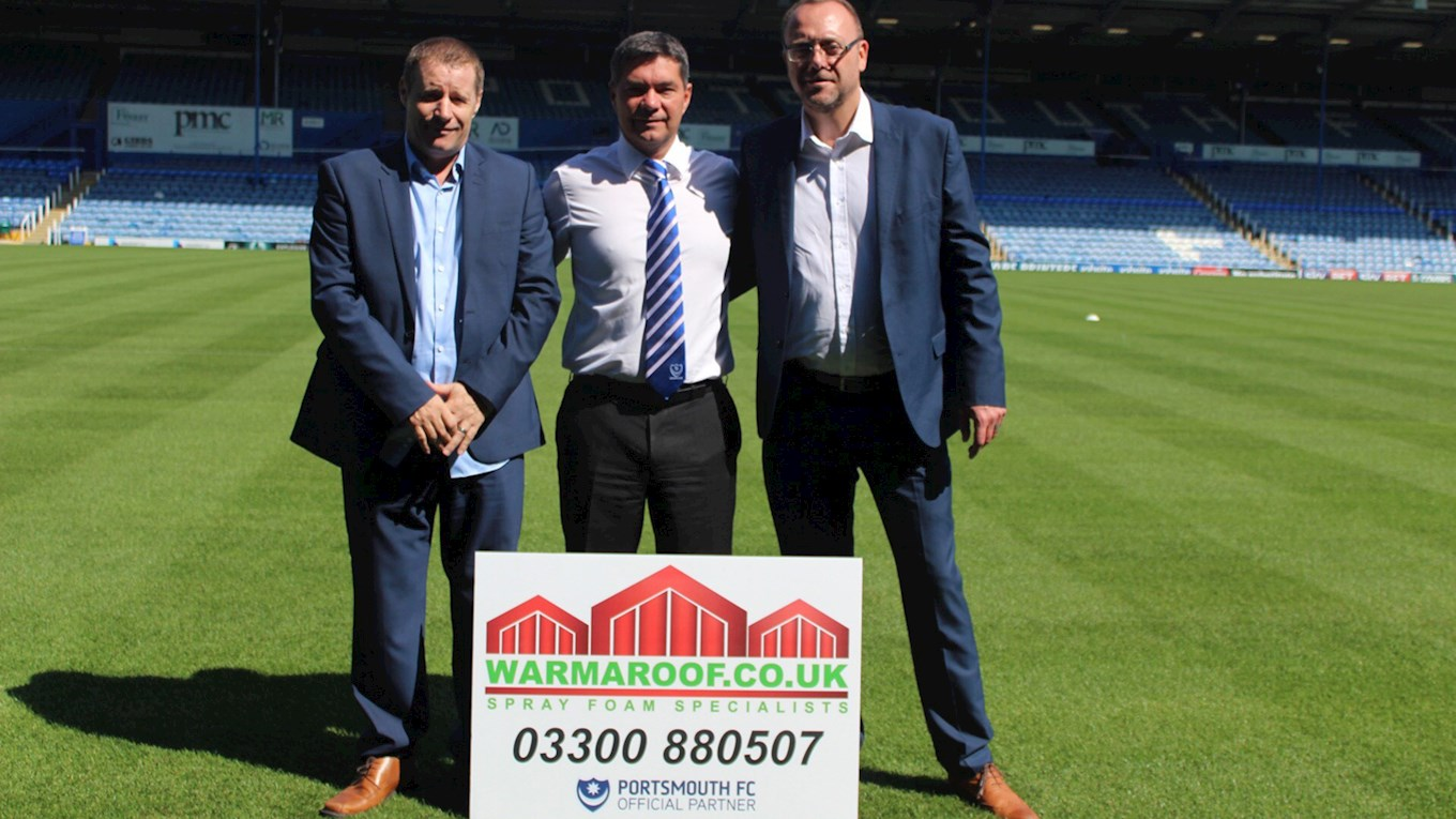 Pompey sponsorship deal with Warmaroof