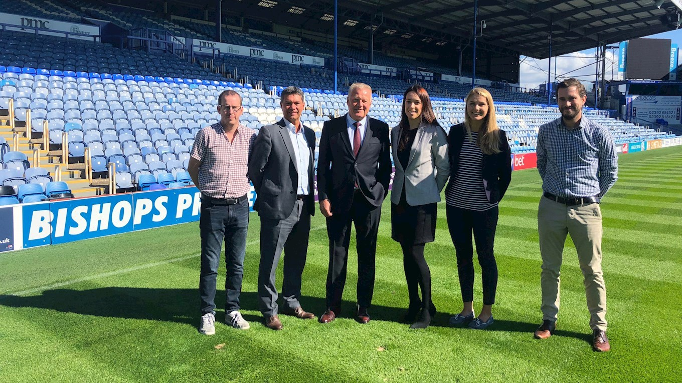 Bishops Printer renew partnership with Pompey