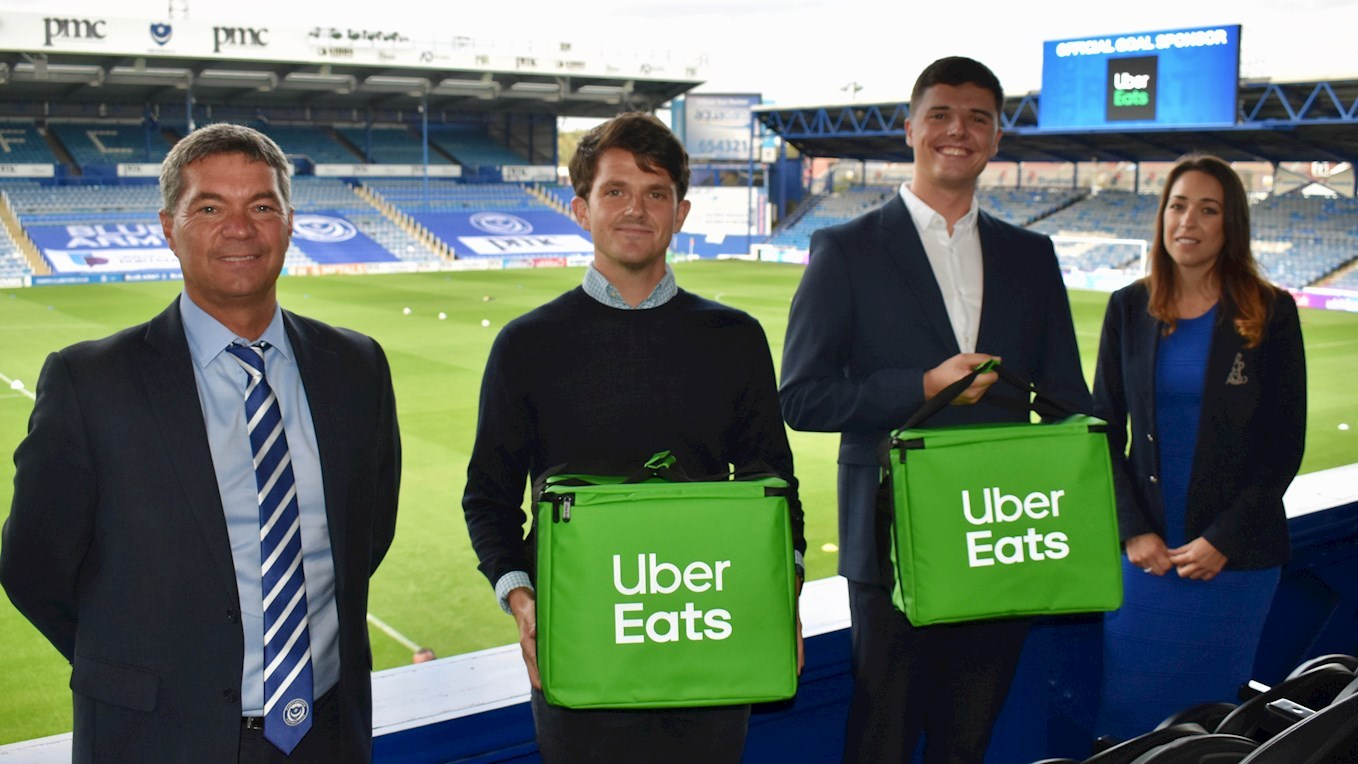 Uber Eats become Pompey's official Goal Sponsor