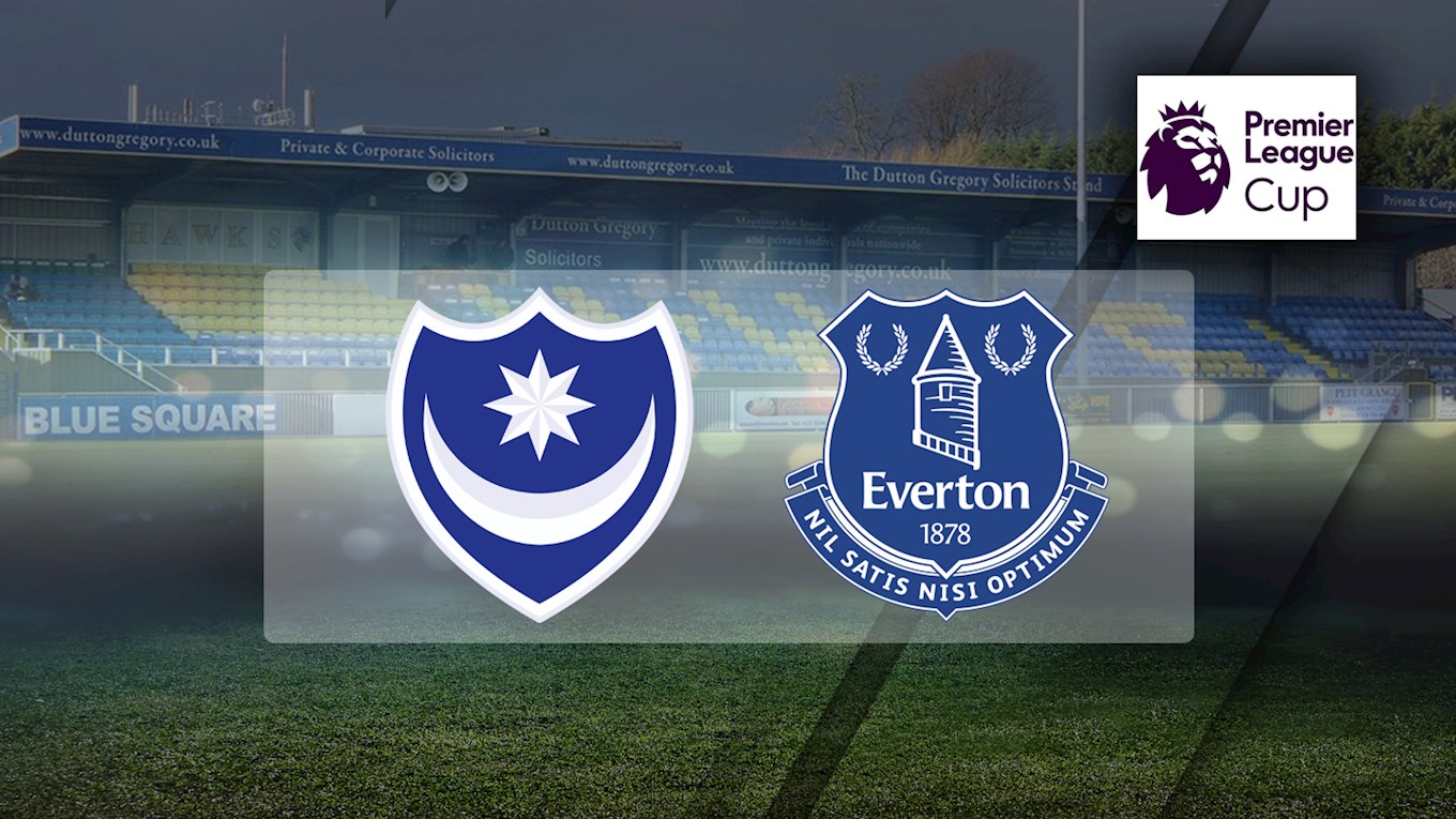 Pompey v Everton in the Premier League Cup