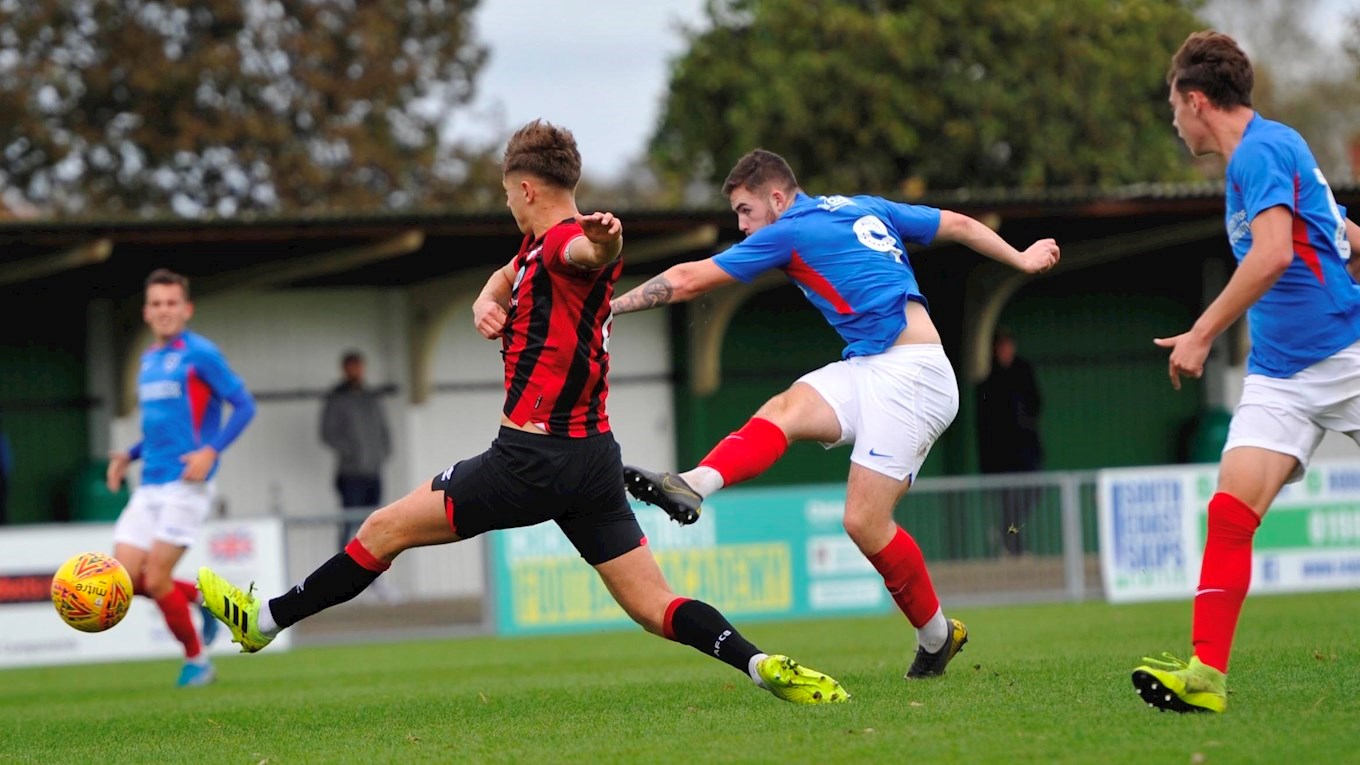 Bradley Lethbridge in action for Pompey Reserves against Bournemouth