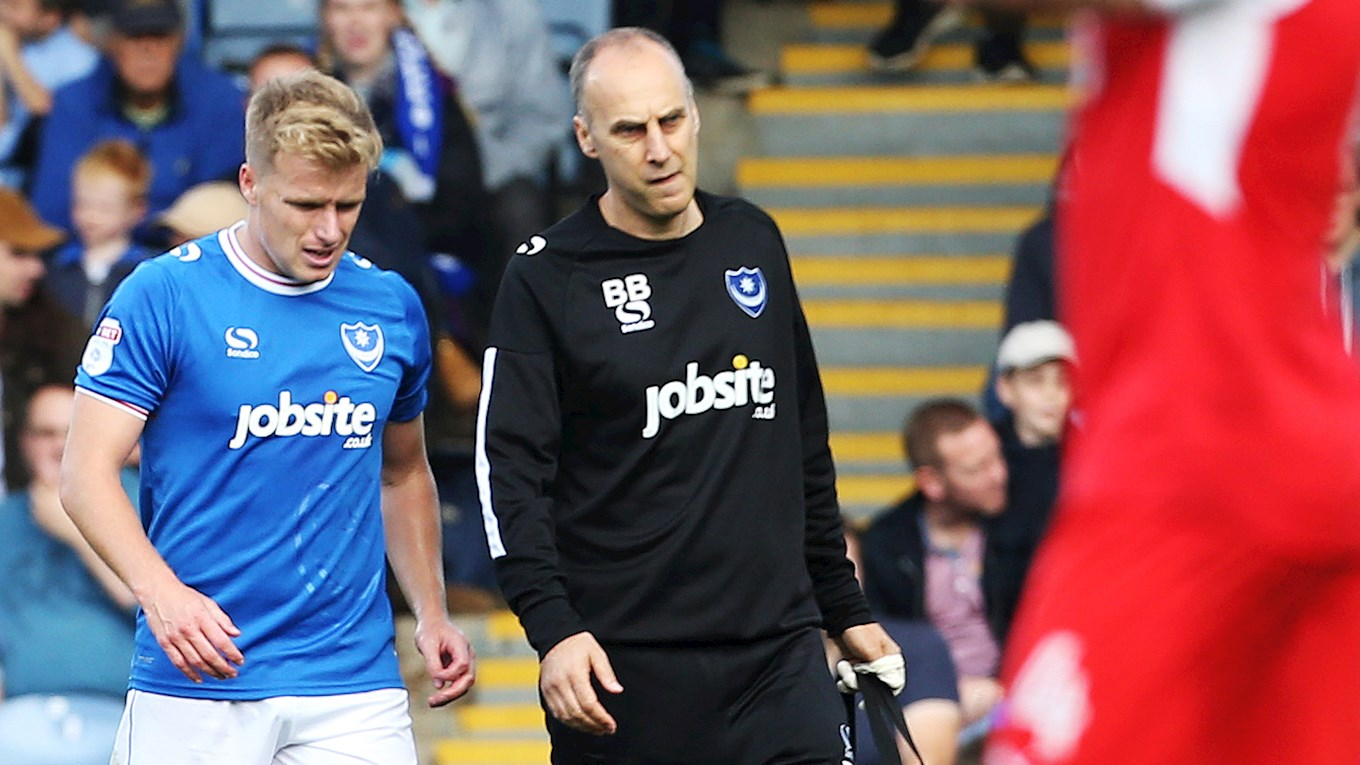 Pompey's head physiotherapist Bobby Bacic