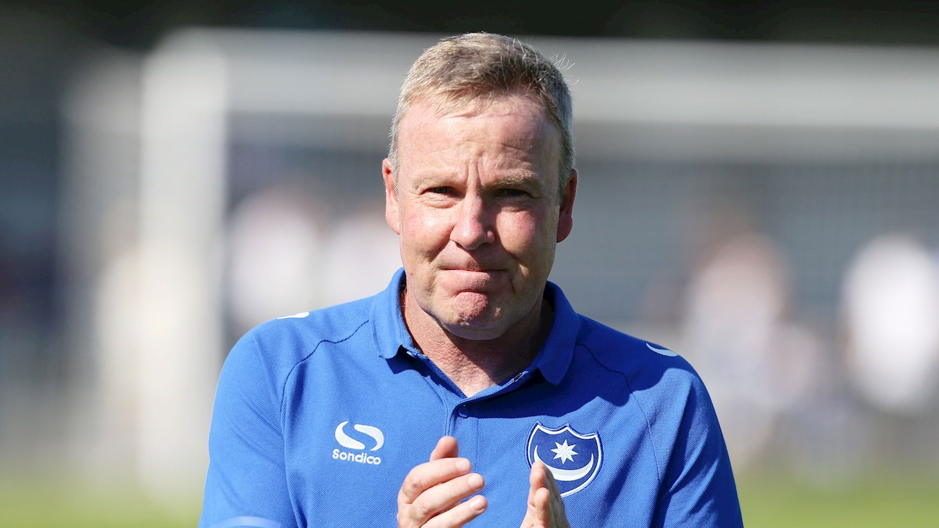 Pompey manager Kenny Jackett at Havant & Waterlooville