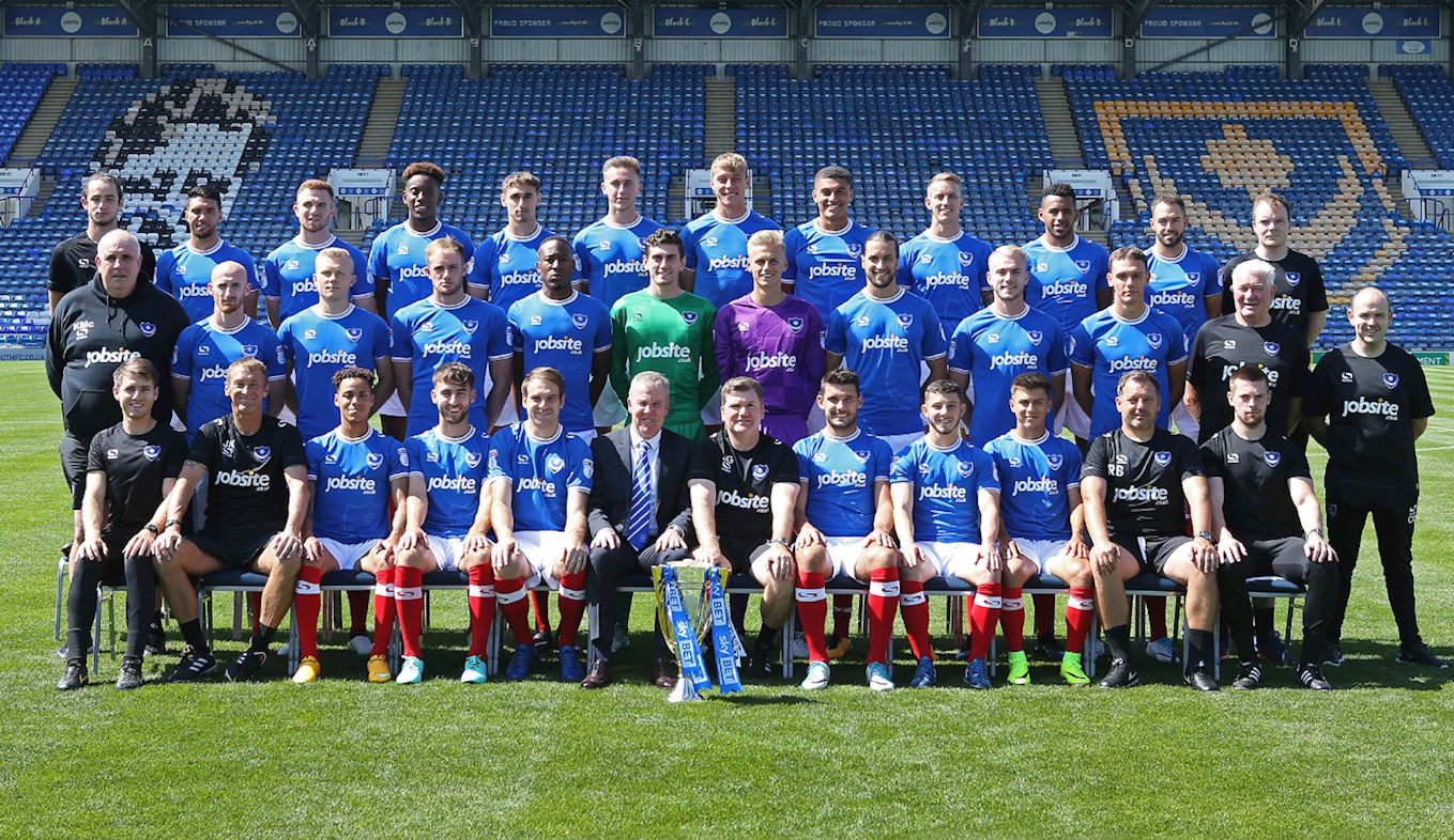 Pompey's 201718 team photo