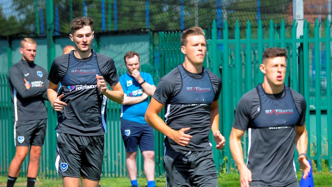 Pompey's first day of pre-season training